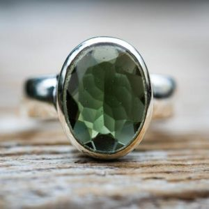 Shop Moldavite Rings! Moldavite Ring 6 – Large Moldavite Full Faceted Oval Cut Ring size 6 – Large Moldavite Ring Size 6 – Moldavite Ring 6 Ring Moldavite Ring 6   Natural genuine Moldavite rings, simple unique handcrafted gemstone rings. #rings #jewelry #shopping #gift #handmade #fashion #style #affiliate #ad