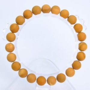 """Shop Mookaite Jasper Bracelets! 8MM Matte Yellow Mookaite Beads Bracelet Grade AAA Genuine Natural Round Gemstone 7"""" BULK LOT 1,3,5,10 and 50 (106791h-063) 