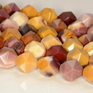 """Shop Mookaite Jasper Faceted Beads! 10mm Mookaite Beads Star Cut Faceted Grade Aaa Genuine Natural Gemstone Loose Beads 15"""" Bulk Lot 1, 3, 5, 10 And 50 (80005257-m23) 