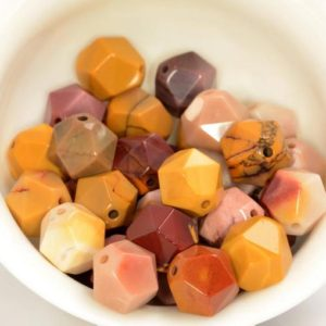 """Shop Mookaite Jasper Faceted Beads! 10MM Mookaite Beads Star Cut Faceted Grade AAA Genuine Natural Gemstone Loose Beads 14.5"""" LOT 1,3,5,10 and 50 (80005257-M23) 
