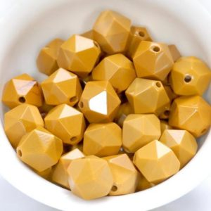 """Shop Mookaite Jasper Faceted Beads! 10MM Yellow Mookaite Beads Star Cut Faceted Grade AAA Genuine Natural Gemstone Loose Beads 14.5"""" LOT 1,3,5,10 and 50 (80005200-M19) 
