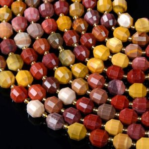 Shop Mookaite Jasper Faceted Beads! Mookaite Gemstone Grade AAA Faceted Prism Double Point Cut 6MM 8MM 10MM Loose Beads BULK LOT 1,2,6,12 and 50 (D32) | Natural genuine faceted Mookaite Jasper beads for beading and jewelry making.  #jewelry #beads #beadedjewelry #diyjewelry #jewelrymaking #beadstore #beading #affiliate #ad