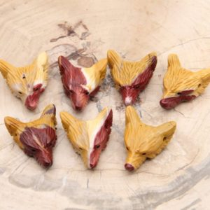 Mookaite Wolf Head Pendants, natural Stone Wolf Head, good Quality Gemstone Pendants, wholesale Wolf Head Pendants, healing Pendants. | Natural genuine Gemstone jewelry. Buy crystal jewelry, handmade handcrafted artisan jewelry for women.  Unique handmade gift ideas. #jewelry #beadedjewelry #beadedjewelry #gift #shopping #handmadejewelry #fashion #style #product #jewelry #affiliate #ad