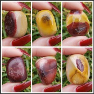 Shop Tumbled Mookaite Jasper Crystals & Pocket Stones! Mookaite Jasper from Australia Tumbled & Polished Gemstone Crystal Healing Collectible, Wicca, Reiki ,Pocket or Wrapping Stones 2pc set | Natural genuine stones & crystals in various shapes & sizes. Buy raw cut, tumbled, or polished gemstones for making jewelry or crystal healing energy vibration raising reiki stones. #crystals #gemstones #crystalhealing #crystalsandgemstones #energyhealing #affiliate #ad