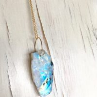 Moonstone Necklace Moonstone Raw Necklace Moonstone Pendant Necklace Gemstone Necklace Statement Moonstone Necklace | Natural genuine Gemstone jewelry. Buy crystal jewelry, handmade handcrafted artisan jewelry for women.  Unique handmade gift ideas. #jewelry #beadedjewelry #beadedjewelry #gift #shopping #handmadejewelry #fashion #style #product #jewelry #affiliate #ad
