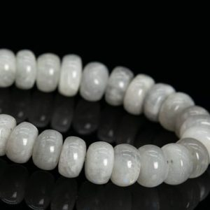 """Shop Moonstone Rondelle Beads! 8×4-5MM Light Gray Moonstone Beads India Grade A Genuine Natural Gemstone Half Strand Rondelle Loose Beads 7"""" Bulk Lot Option (112264h-3492)   Natural genuine rondelle Moonstone beads for beading and jewelry making.  #jewelry #beads #beadedjewelry #diyjewelry #jewelrymaking #beadstore #beading #affiliate #ad"""