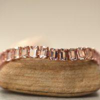 Morganite Tennis Bracelet Emerald Cut With Safety Clasp Ls6316 | Natural genuine Gemstone jewelry. Buy crystal jewelry, handmade handcrafted artisan jewelry for women.  Unique handmade gift ideas. #jewelry #beadedjewelry #beadedjewelry #gift #shopping #handmadejewelry #fashion #style #product #jewelry #affiliate #ad