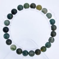 "8mm Matte Moss Agate Beads Bracelet Grade Aaa Genuine Natural Round Gemstone 7"" Bulk Lot 1, 3, 5, 10 And 50 (106736h-066) 