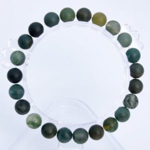 """Shop Moss Agate Bracelets! 8MM Matte Moss Agate Beads Bracelet Grade AAA Genuine Natural Round Gemstone 7"""" BULK LOT 1,3,5,10 and 50 (106736h-066) 