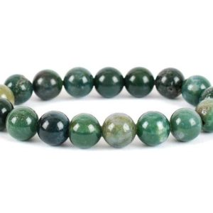 Shop Moss Agate Bracelets! Green Moss Agate Bracelet, Green Moss Agate 10 mm Bead Bracelet, Crystals, Minerals, Gemstones Green Moss Agate Bracelet, Green Bracelet | Natural genuine Moss Agate bracelets. Buy crystal jewelry, handmade handcrafted artisan jewelry for women.  Unique handmade gift ideas. #jewelry #beadedbracelets #beadedjewelry #gift #shopping #handmadejewelry #fashion #style #product #bracelets #affiliate #ad
