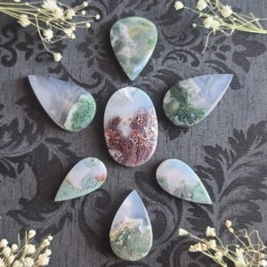 Shop Moss Agate Cabochons! Scenic Moss Agate Cabochon, Choose Your Gemstone Crystal for Jewelry Making or Crystal Grids | Natural genuine stones & crystals in various shapes & sizes. Buy raw cut, tumbled, or polished gemstones for making jewelry or crystal healing energy vibration raising reiki stones. #crystals #gemstones #crystalhealing #crystalsandgemstones #energyhealing #affiliate #ad