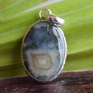 Shop Moss Agate Pendants! 925 silver natural moss agate pendant-natural agate pendant-moss agate pendant-agate pendant-oval shape pendant-design pendant | Natural genuine Moss Agate pendants. Buy crystal jewelry, handmade handcrafted artisan jewelry for women.  Unique handmade gift ideas. #jewelry #beadedpendants #beadedjewelry #gift #shopping #handmadejewelry #fashion #style #product #pendants #affiliate #ad