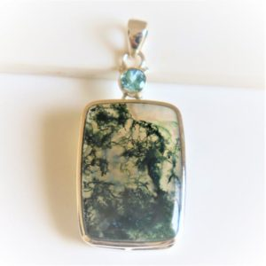 Shop Moss Agate Pendants! Natural Moss Agate Pendant, 925 Solid Sterling Silver, Unique Gift,Natural GemStone Pendant, Healing Stone,Christmas Gift, Gift for Her | Natural genuine Moss Agate pendants. Buy crystal jewelry, handmade handcrafted artisan jewelry for women.  Unique handmade gift ideas. #jewelry #beadedpendants #beadedjewelry #gift #shopping #handmadejewelry #fashion #style #product #pendants #affiliate #ad