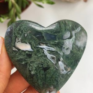 Shop Moss Agate Shapes! Moss Agate Heart, Moss Agate | Natural genuine stones & crystals in various shapes & sizes. Buy raw cut, tumbled, or polished gemstones for making jewelry or crystal healing energy vibration raising reiki stones. #crystals #gemstones #crystalhealing #crystalsandgemstones #energyhealing #affiliate #ad