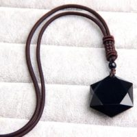 Black Obsidian Hexagram Pendant Necklace-healing Natural Stone Pendant Necklace-spiritual Balance Meditation Grounding Pendant Necklace | Natural genuine Gemstone jewelry. Buy crystal jewelry, handmade handcrafted artisan jewelry for women.  Unique handmade gift ideas. #jewelry #beadedjewelry #beadedjewelry #gift #shopping #handmadejewelry #fashion #style #product #jewelry #affiliate #ad