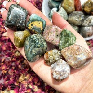 Ocean Jasper Tumble – from Madagascar – Orbs – Ocean Jasper Stone – No. 104 | Natural genuine stones & crystals in various shapes & sizes. Buy raw cut, tumbled, or polished gemstones for making jewelry or crystal healing energy vibration raising reiki stones. #crystals #gemstones #crystalhealing #crystalsandgemstones #energyhealing #affiliate #ad