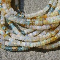 Ethiopian Opal Bracelet, Multi Strand Opal Jewelry, Multi Color Gemstone Bracelet | Natural genuine Gemstone jewelry. Buy crystal jewelry, handmade handcrafted artisan jewelry for women.  Unique handmade gift ideas. #jewelry #beadedjewelry #beadedjewelry #gift #shopping #handmadejewelry #fashion #style #product #jewelry #affiliate #ad