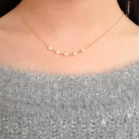 Simple Pearl Necklace, June Birthstone / Handmade Jewelry / Dainty Gold Necklace, Freshwater Pearl, Layered Delicate, Necklaces For Women | Natural genuine Gemstone jewelry. Buy crystal jewelry, handmade handcrafted artisan jewelry for women.  Unique handmade gift ideas. #jewelry #beadedjewelry #beadedjewelry #gift #shopping #handmadejewelry #fashion #style #product #jewelry #affiliate #ad