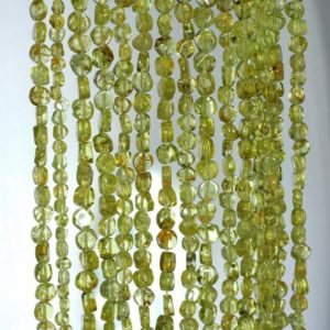 Shop Peridot Chip & Nugget Beads! 4mm Peridot Gemstone Grade A Green Flat Round Nugget Loose Beads 14 Inch Full Strand (90184955-899) | Natural genuine chip Peridot beads for beading and jewelry making.  #jewelry #beads #beadedjewelry #diyjewelry #jewelrymaking #beadstore #beading #affiliate #ad