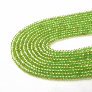 Shop Peridot Faceted Beads! 2x1MM Genuine Peridot Gemstone Grade AAA Bicone Faceted Rondelle Saucer Loose Beads (P1) | Natural genuine faceted Peridot beads for beading and jewelry making.  #jewelry #beads #beadedjewelry #diyjewelry #jewelrymaking #beadstore #beading #affiliate #ad