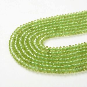 Shop Peridot Faceted Beads! 3x2MM Genuine Peridot Gemstone Grade AAA Bicone Faceted Rondelle Saucer Loose Beads (P1) | Natural genuine faceted Peridot beads for beading and jewelry making.  #jewelry #beads #beadedjewelry #diyjewelry #jewelrymaking #beadstore #beading #affiliate #ad