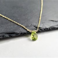 Genuine Peridot Necklace, August Birthstone / Handmade Jewelry / Peridot Necklace Gold, Silver Necklace, Necklaces For Women, Dainty Minimal | Natural genuine Gemstone jewelry. Buy crystal jewelry, handmade handcrafted artisan jewelry for women.  Unique handmade gift ideas. #jewelry #beadedjewelry #beadedjewelry #gift #shopping #handmadejewelry #fashion #style #product #jewelry #affiliate #ad
