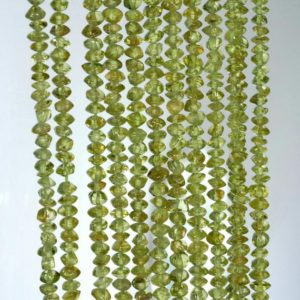 Shop Peridot Rondelle Beads! 3x2mm Peridot Gemstone Grade A Green Rondelle Loose Beads 14 Inch Full Strand (90184952-899) | Natural genuine rondelle Peridot beads for beading and jewelry making.  #jewelry #beads #beadedjewelry #diyjewelry #jewelrymaking #beadstore #beading #affiliate #ad