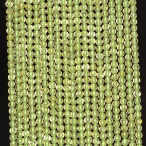 2mm Pedoretes Peridot Gemstone Green Round 2mm Loose Beads 16 Inch Full Strand (90113984-107 – 2mm A) | Natural genuine round Peridot beads for beading and jewelry making.  #jewelry #beads #beadedjewelry #diyjewelry #jewelrymaking #beadstore #beading #affiliate #ad