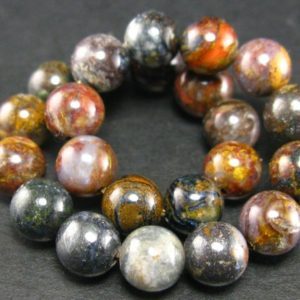 """Pietersite Round Bracelet from Africa  – 7"""" – 8mm Beads 