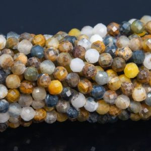 """Shop Pietersite Beads! 3mm Multicolor Pietersite Beads Grade Aaa Genuine Natural Gemstone Full Strand Faceted Round Loose Beads 15"""" Bulk Lot Options (110594-3193) 