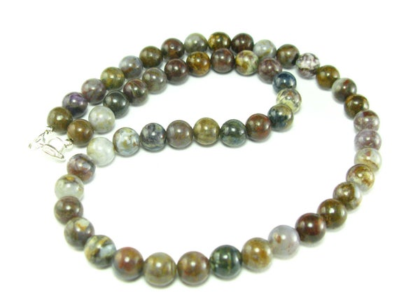 """Pietersite Necklace Beads From Africa  - 19"""""""