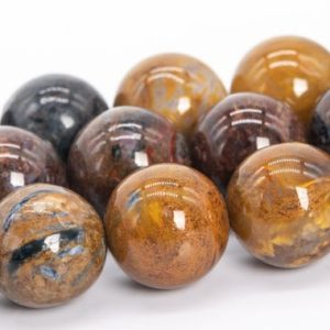 """Shop Pietersite Beads! 12mm Brown Pietersite Beads Colombia Grade Aa Genuine Natural Gemstone Full Strand Round Loose Beads 15"""" (111985-3463) 