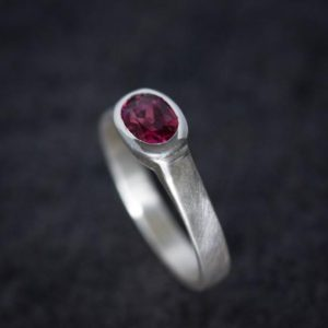 Shop Pink Tourmaline Rings! Pink Tourmaline Wide Band Ring, Brushed Silver With Low Profile, Size 7 Oval Gemstone Solitaire and October Birthstone   Natural genuine Pink Tourmaline rings, simple unique handcrafted gemstone rings. #rings #jewelry #shopping #gift #handmade #fashion #style #affiliate #ad