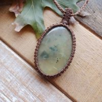 Green Prehnite Pendant Necklace | Natural genuine Gemstone jewelry. Buy crystal jewelry, handmade handcrafted artisan jewelry for women.  Unique handmade gift ideas. #jewelry #beadedjewelry #beadedjewelry #gift #shopping #handmadejewelry #fashion #style #product #jewelry #affiliate #ad