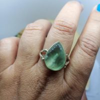 Natural Prehnite Ring, 925 Sterling Silver, prehnite Ring, green Ring, teardrop Ring, boho Statement Ring, handmade Ring, christmas Gift Her | Natural genuine Gemstone jewelry. Buy crystal jewelry, handmade handcrafted artisan jewelry for women.  Unique handmade gift ideas. #jewelry #beadedjewelry #beadedjewelry #gift #shopping #handmadejewelry #fashion #style #product #jewelry #affiliate #ad