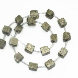 Shop Pyrite Chip & Nugget Beads! 10-12mm Pyrite Cube Gemstones Natural  Rough Cube Loose Beads 7 inch Half Strand (90189076-353) | Natural genuine chip Pyrite beads for beading and jewelry making.  #jewelry #beads #beadedjewelry #diyjewelry #jewelrymaking #beadstore #beading #affiliate #ad