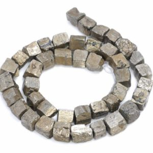 Shop Pyrite Chip & Nugget Beads! 10MM  Pyrite Gemstone Rugged Nugget Cube Loose Beads 15 inch Full Strand (80004144-B112) | Natural genuine chip Pyrite beads for beading and jewelry making.  #jewelry #beads #beadedjewelry #diyjewelry #jewelrymaking #beadstore #beading #affiliate #ad