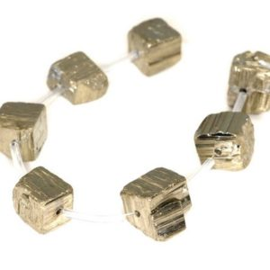 Shop Pyrite Chip & Nugget Beads! 12×10-10x8MM Iron Pyrite Gemstone Rugged Nugget Cube Loose Beads 8 inch Half Strand (90112479-B78) | Natural genuine chip Pyrite beads for beading and jewelry making.  #jewelry #beads #beadedjewelry #diyjewelry #jewelrymaking #beadstore #beading #affiliate #ad