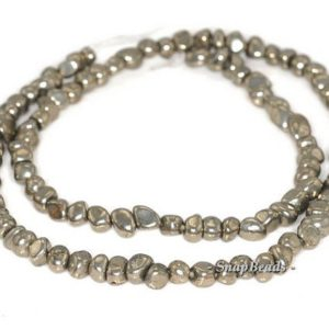 Shop Pyrite Chip & Nugget Beads! 5mm Palazzo Iron Pyrite Gemstone Pebble Granule Nugget 5x5mm Loose Beads 15.5 Inch Full Strand Lot 1, 2, 6, 12 And 20 (90144802-419) | Natural genuine chip Pyrite beads for beading and jewelry making.  #jewelry #beads #beadedjewelry #diyjewelry #jewelrymaking #beadstore #beading #affiliate #ad