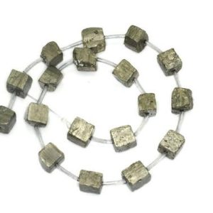 Shop Pyrite Chip & Nugget Beads! 6-8mm Pyrite Cube Gemstones Natural  Rough Cube Loose Beads 15.5 inch Fulll Strand (90189326-353) | Natural genuine chip Pyrite beads for beading and jewelry making.  #jewelry #beads #beadedjewelry #diyjewelry #jewelrymaking #beadstore #beading #affiliate #ad