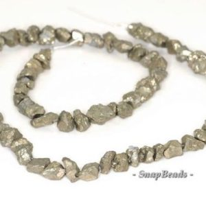 Shop Pyrite Chip & Nugget Beads! 7mm-6mm Palazzo Iron Pyrite Gemstone Rugged Nugget Pebble Loose Beads 7.5 inch Half Strand (90144872-413) | Natural genuine chip Pyrite beads for beading and jewelry making.  #jewelry #beads #beadedjewelry #diyjewelry #jewelrymaking #beadstore #beading #affiliate #ad