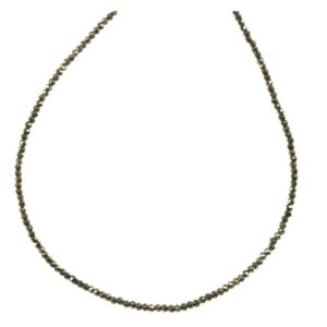 Shop Pyrite Necklaces! Pyrite Necklace 14k Gold Filled Solid Strand Faceted Small Tiny Dainty Stones 18 19 Inches Simple Design Natural Golden Bronze Vintage Look | Natural genuine Pyrite necklaces. Buy crystal jewelry, handmade handcrafted artisan jewelry for women.  Unique handmade gift ideas. #jewelry #beadednecklaces #beadedjewelry #gift #shopping #handmadejewelry #fashion #style #product #necklaces #affiliate #ad
