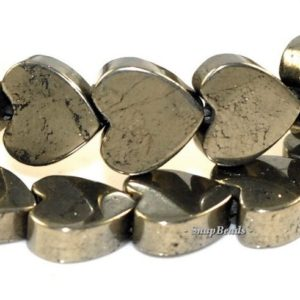Shop Pyrite Bead Shapes! 8MM Palazzo Iron Pyrite Gemstone, Love Heart, 8X8MM Loose Beads 16 inch Full Strand (90181660-138) | Natural genuine other-shape Pyrite beads for beading and jewelry making.  #jewelry #beads #beadedjewelry #diyjewelry #jewelrymaking #beadstore #beading #affiliate #ad