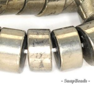 Shop Pyrite Rondelle Beads! 10x5mm Palazzo Iron Pyrite Gemstone Heishi Rondelle 10x5mm Loose Beads 7.5 inch Half Strand (90145044-409)   Natural genuine rondelle Pyrite beads for beading and jewelry making.  #jewelry #beads #beadedjewelry #diyjewelry #jewelrymaking #beadstore #beading #affiliate #ad