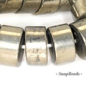 Shop Pyrite Rondelle Beads! 10x5mm Palazzo Iron Pyrite Gemstone Heishi Rondelle 10x5mm Loose Beads 15.5 inch Full Strand (90145056-409)   Natural genuine rondelle Pyrite beads for beading and jewelry making.  #jewelry #beads #beadedjewelry #diyjewelry #jewelrymaking #beadstore #beading #affiliate #ad