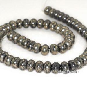 Shop Pyrite Rondelle Beads! 10x6mm Iron Pyrite Intrusion Gemstone Black Gold Rondelle Heishi Loose Beads 7 inch Half Strand (90144908-417)   Natural genuine rondelle Pyrite beads for beading and jewelry making.  #jewelry #beads #beadedjewelry #diyjewelry #jewelrymaking #beadstore #beading #affiliate #ad