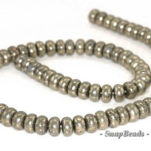 Shop Pyrite Rondelle Beads! 10x6mm Palazzo Iron Pyrite Gemstone Rondelle 10x6mm Loose Beads 7.5 inch Half Strand (90144934-404)   Natural genuine rondelle Pyrite beads for beading and jewelry making.  #jewelry #beads #beadedjewelry #diyjewelry #jewelrymaking #beadstore #beading #affiliate #ad