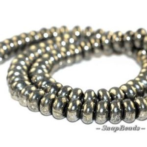 Shop Pyrite Rondelle Beads! 8X5MM Palazzo Iron Pyrite Gemstones Rondelle 8X5MM Loose Beads 7.5 inch Half Strand (90136018-107)   Natural genuine rondelle Pyrite beads for beading and jewelry making.  #jewelry #beads #beadedjewelry #diyjewelry #jewelrymaking #beadstore #beading #affiliate #ad