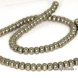 Shop Pyrite Rondelle Beads! FREE USA Ship 6x4mm Palazzo Iron Pyrite Gemstone Rondelle 6x4mm Loose Beads 15.5 inch Full Strand LOT 1,2,6,12 and 20 (90144821-418)   Natural genuine rondelle Pyrite beads for beading and jewelry making.  #jewelry #beads #beadedjewelry #diyjewelry #jewelrymaking #beadstore #beading #affiliate #ad