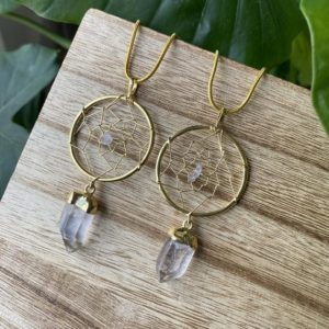 Shop Quartz Crystal Necklaces! Crystal necklace, dream catcher necklace, quartz necklace | Natural genuine Quartz necklaces. Buy crystal jewelry, handmade handcrafted artisan jewelry for women.  Unique handmade gift ideas. #jewelry #beadednecklaces #beadedjewelry #gift #shopping #handmadejewelry #fashion #style #product #necklaces #affiliate #ad
